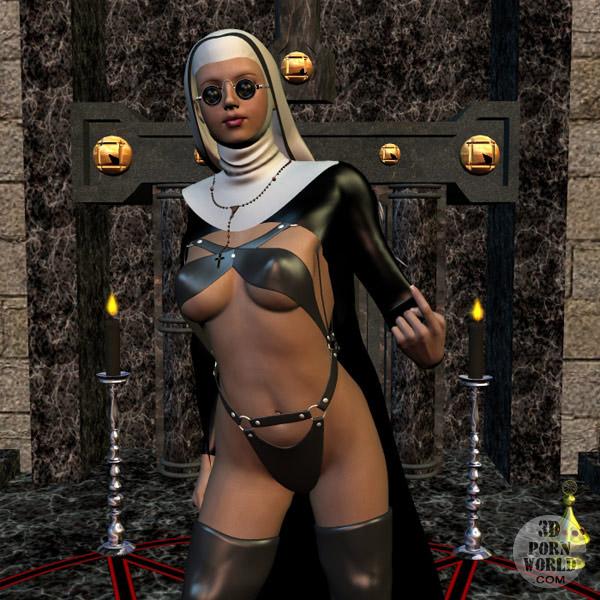 CRAZY 3D WORLD - Hot nude 3D nun!